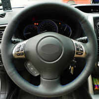 Steering Wheel Cover Wrap Around Real Leather for Subaru Forester Impreza Legacy