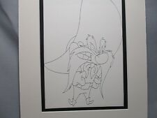 Yosemite Sam With mad Face I have had enough   Looney Tunes 1960,s Line Drawing