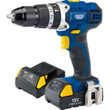 Draper 83685 Expert 18v Cordless Combi Hammer Drill With Two Li-ion Batteries