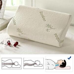 Orthopedic Bamboo Fiber Sleeping Memory Foam Pillows Comfort Contour Home 1pcs