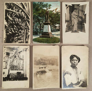 Philippines: Lot Fourteen 1920s+ Postcards, Most are RPPC Real Photo, Sold AS-IS