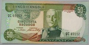 Ek // BILLET  50 escudos Angola Portuguaise 1972 Marechal Carmona UNC