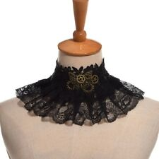 1pc Steampunk Gear Butterfly Lace Necklace Gothic Choker Necklace Black Neck