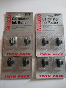 (4) Nu-Kote NR42-2 Calculator Ink Roller Twin Packs - New