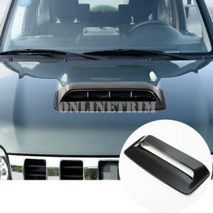 Black ABS Front Hood Air Vent Trim Cover 1pcs For Suzuki Jimny 2012-2017