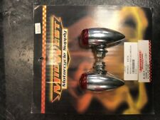 Chrome LED Bullet Light With Red Lens Smooth Midwest 8-311