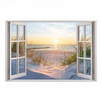 153 Wandtattoo Fenster - Ostsee Strand Maritim Meer Wohnzimmer Deko Wanddeko