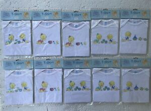 Lot of 10 Precious Moments Baby Collection 0-3 mth t-shirt 100% Cotton Vintage