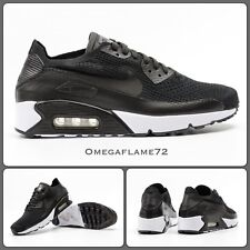 Nike AIR MAX 90 Ultra 2.0 Flyknit 875943-004, UK 9, EUR 44, US 10, Nero Bianco