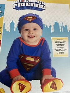 Superman Infant Baby 6-12 Months Costume Halloween DC Super Friends Outfit New