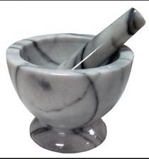Mortaio e pestello in marmo  per pesto pesti macina pepe spezie diametro cm 17
