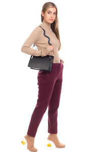 RRP €440 CEDRIC CHARLIER Rayon Tailored Trousers Size 42 S Zip Fly Made in Italy
