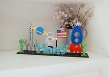 COOL Bedroom Sign, Space Theme Decoration, Alien, Personalised Boys Room Sign