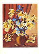 B16060 Art Peinture Painting Judaica flowers Madeleine Jars