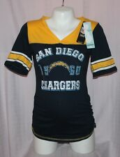 San Diego Chargers NFL Apparel Motherhood Womens Maternity V-Neck T-Shirt M