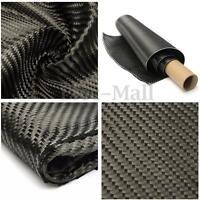 3K Carbon Fiber Fibre Cloth Tape Fabric Twill Weave Black 36 x 91cm DIY