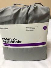 Room Essentials Microfiber TWIN XL Grey Sheet Set XLT
