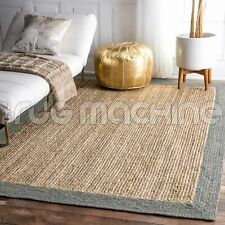 PALAWAN TAUPE GREY NATURAL HAND WOVEN BRAIDED JUTE FLOOR RUG - 3 Sizes **NEW**