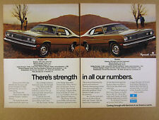 1972 Plymouth Duster 340 & Duster cars color photo vintage print Ad