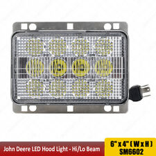 4x6 LED Light High/Low Beam Fit Agco John Deere Led Front Hood Tractor Lights x1