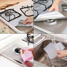 Set Kit 4 Feuilles Aluminium Protection Gaziniere Protege Plaques Gaz Lavable