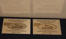 JAGUAR DRIVERS CLUB OF LONG ISLAND CONCOURS PLAQUES - SET OF 2