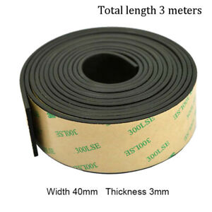Universal 3m Car Sunroof Window Seal Strip Trim Rubber Moulding 40mm x 3mm 1Pcs