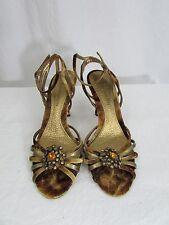 Enzo Angiolini Multi Bronze Strap Shoe Size 8M