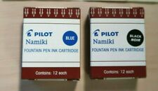 12 Pack Pilot Fountain Pen Ink Cartridges Namiki IC100 Black & Blue Refill 69100