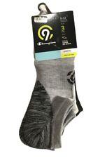 Champion C9 Mens Super No Show Athletic Socks 3 Pairs Shoe Size 6-12