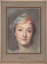 Héliogravure M. Q DE LA TOUR Portrait de Mlle Fel    1927  - 6h