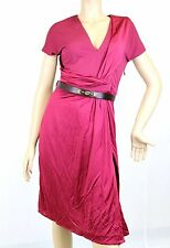 $1695 NEW Authentic Gucci V-Neck Dress w/GG Belt, L, 271398