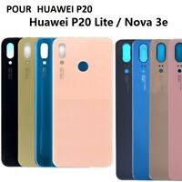 VITRE ARRIÈRE ORIGINAL HUAWEI P20 / LITE PRO NOVA 3E / NOIR / OR / ROSE / BLEU