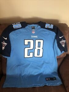 Nike TENNESSEE TITANS FOOTBALL JERSEY Chris Johnson #28 Missing Tag Suze 2XL MEN