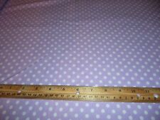 LILAC POLKA DOT FLANNEL FABRIC - 3 YARDS IN STOCK - SOLD BY THE YARD