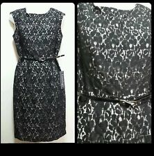 👗🛍Luxology Black Lace Cap Sleeves Party Cocktail Dress ~ 6 M3020