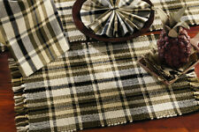 """""""MOSS WOOD"""" Country Rustic Placemat - Creme,Brown,Green - **SET OF 6**"""