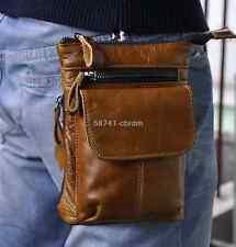 Men's Genuine Leather Belt Hook Fanny Waist Bag Messenger Shoulder Hip Bum Pack