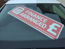 x 5 Car For Sale Finance Arranged correx Signs Windscreen Display Red or blue