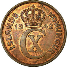 [#756160] Coin, Iceland, Christian X, 5 Aurar, 1942, London, EF, Bronze, KM:7.2