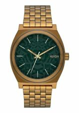 *BRAND NEW* NIXON WATCH THE TIME TELLER PALM GREEN BRASS A0452851 NEW IN BOX!