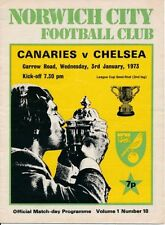 League Cup Teams C-E Chelsea Final Football Programmes