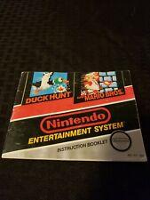 Super Mario Bros. / Duck Hunt NES Nintendo Manual Only