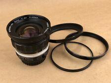 Nikon 20mm f/3.5 NIKKOR-UD Auto Non Ai Manual Focus Nippon Kogaku Japan Lens