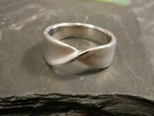 Wunderbarer 925 Silber Ring Seidenmatt Schleife Optik Wie Geknicktes Tuch Groß