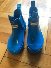 Hunter Blue Waterproof Short Rain Boots Kids Size 10B, NWB