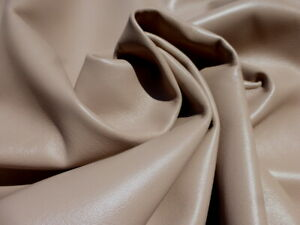 lambskin sheepskin leather hide Large Light Warm Taupe Brown Smooth Finish 2 oz
