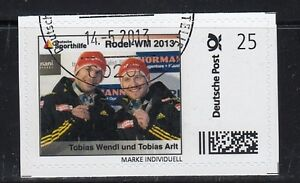 D. Briefmarke Individuell   Rodel WM  Wendl Arlt  oo