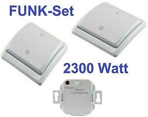 Funk Wandsender Wechsel-Schalter Unterputz UP Einbau Empfänger Licht kabellos