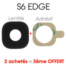 NOIR Lentille Vitre Cache Camera Appareil Photo Lens Samsung Galaxy S6 Edge G925